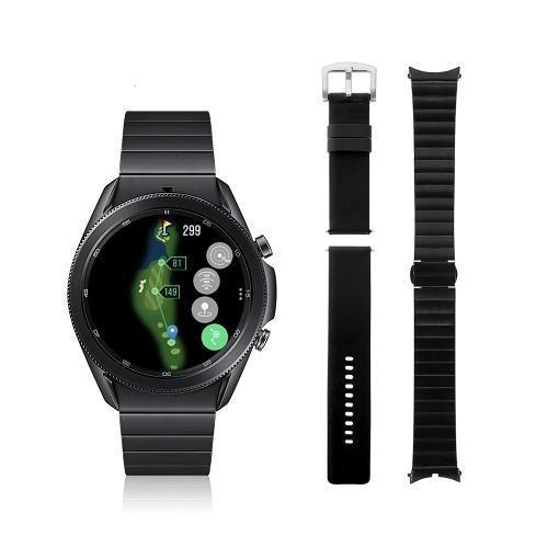 [삼성정품]갤럭시 워치3 티타늄 골프에디션 45mm_가죽 스트랩 증정