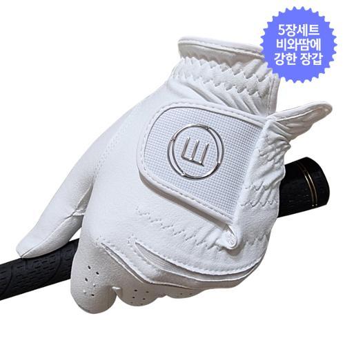5장/마루망 비와땀에강한 극세사골프장갑-실버라벨