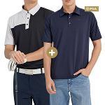 PGA 남성 퍼포먼스 반팔티셔츠 2장 1세트 (POM02TS)