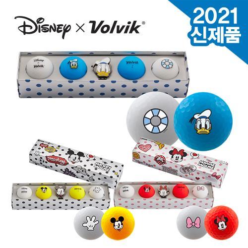 [2021년신제품]볼빅 디즈니 VIVID 골프볼 볼마커 선물세트-3종택1