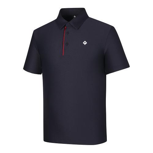 [레노마골프]21SS 남성 조직감 패턴 카라 반팔 티셔츠 RMTYK2164-925_G
