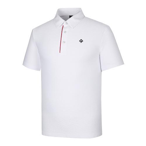[레노마골프]21SS 남성 조직감 패턴 카라 반팔 티셔츠 RMTYK2164-101_G