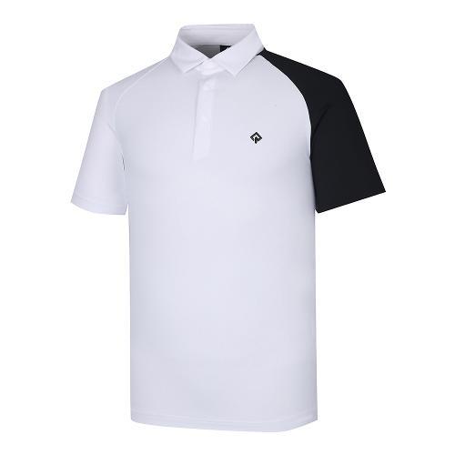 [레노마골프]21SS 남성 등판 로고포인트 카라 반팔 티셔츠 RMTYK2106-101_G