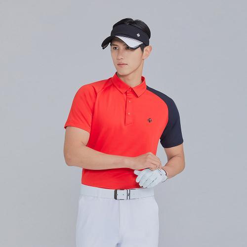 [레노마골프]21SS 남성 등판 로고포인트 카라 반팔 티셔츠 RMTYK2106-500_G