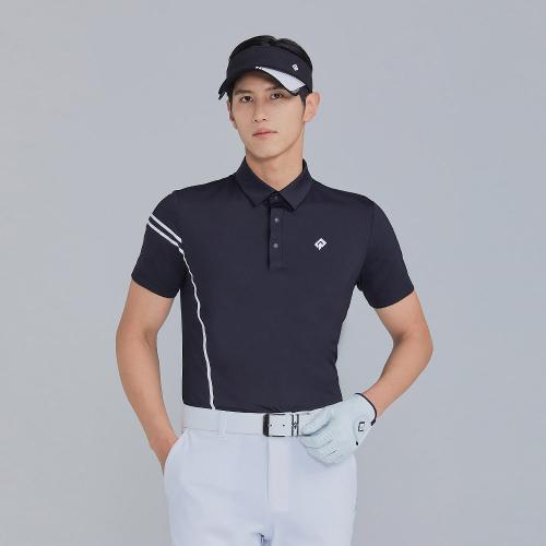 [레노마골프]21SS 남성 웰딩프린트 포인트 카라 반팔 티셔츠 RMTYK2105-199_G