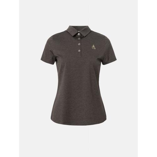 [빈폴골프] 여성 브라운 멜란지 칼라 티셔츠 (BJ1342A71D)
