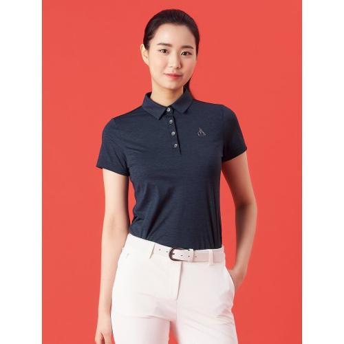 [빈폴골프] 여성 네이비 멜란지 칼라 티셔츠 (BJ1342A71R)