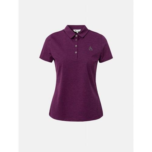 [빈폴골프] 여성 마젠타 멜란지 칼라 티셔츠 (BJ1342A71W)