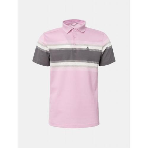 [빈폴골프] 남성 핑크 선염 블록 칼라 티셔츠 (BJ1342B04X)