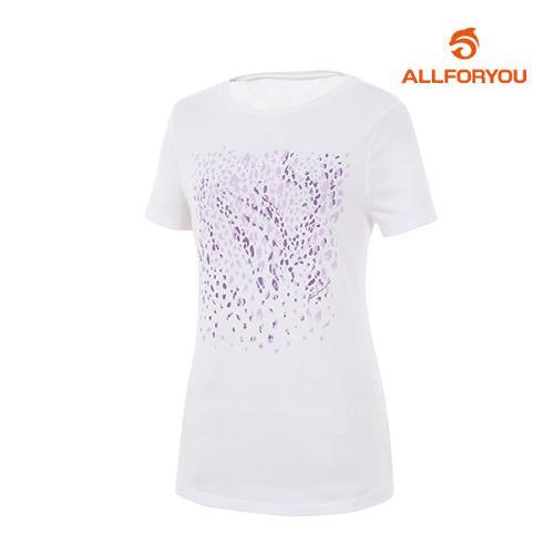 [올포유]여성 호피 포인트 티셔츠 AWQTH6191-100_G