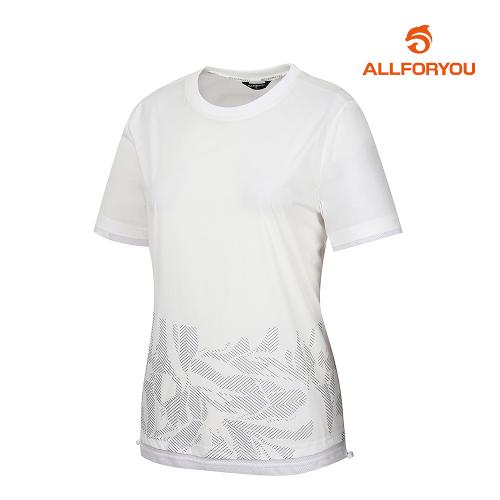 [올포유]여성 웜업 반팔 티셔츠 AWWJJ6326-100_G