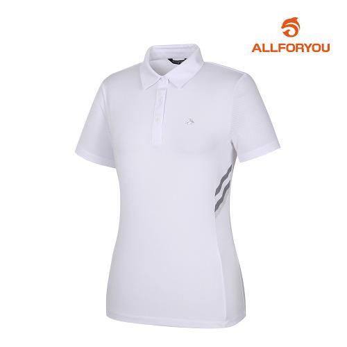 [올포유]여성 메쉬카라 반팔 티셔츠 AWTYJ6127-100_G