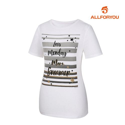 [올포유]여성 반팔 티셔츠 AWTRJ6152-100_G