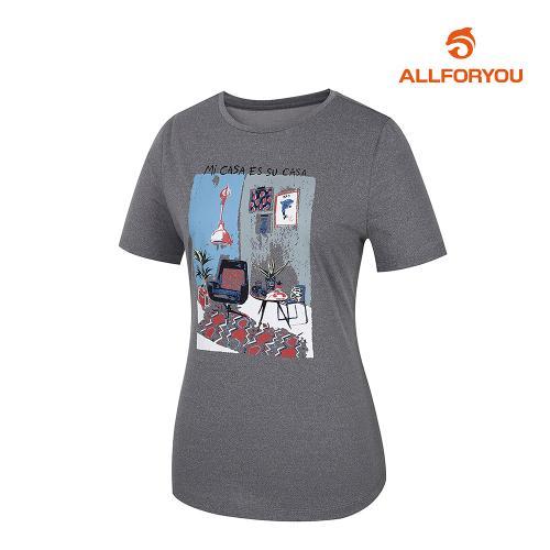 [올포유]여성 라운드 반팔 티셔츠 AWTRJ6151-190_G