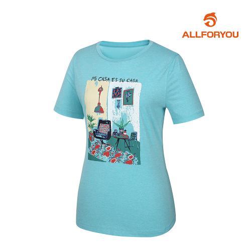 [올포유]여성 라운드 반팔 티셔츠 AWTRJ6151-830_G