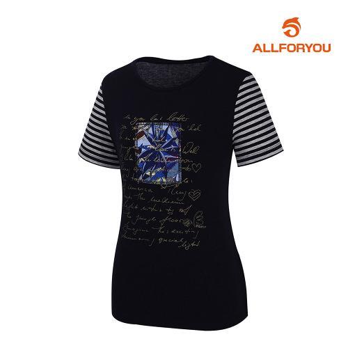 [올포유]여성 줄무늬 반팔 티셔츠 AWTRJ6159-915_G