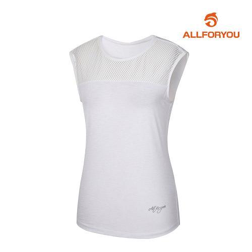 [올포유]여성 절개 민소매 티셔츠 AWTSJ6160-100_G