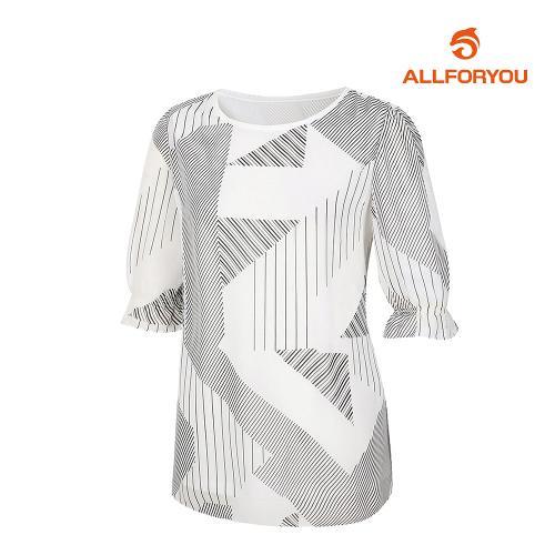 [올포유]여성 기하학 티셔츠 AWTRJ6165-100_G