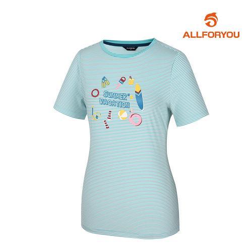 [올포유]여성 프린팅 반팔 티셔츠 AWTRJ6122-830_G