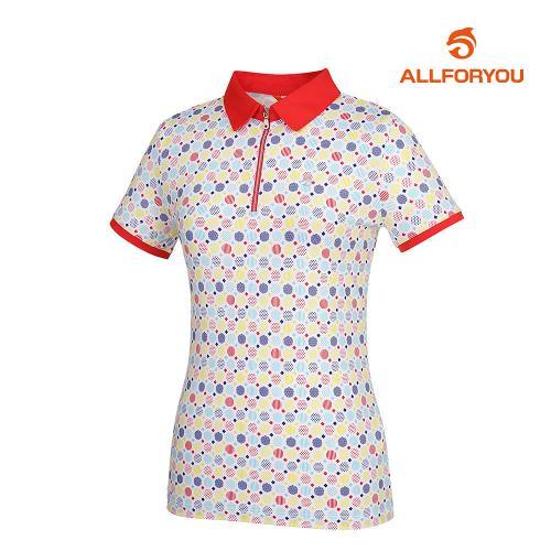 [올포유]여성 카라 집업 반팔 티셔츠 AWTYH6120-500_G