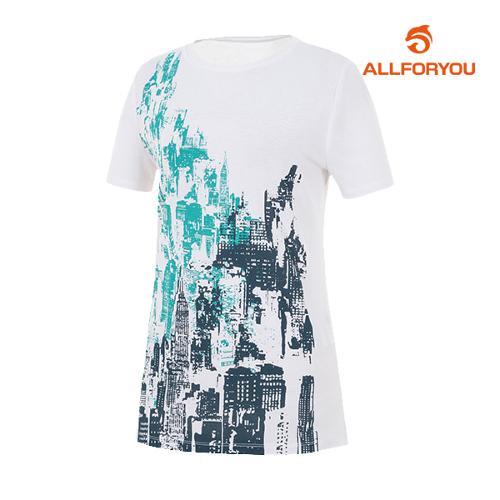 [올포유]여성 모던 반팔 티셔츠 AWQTH6192-100_G