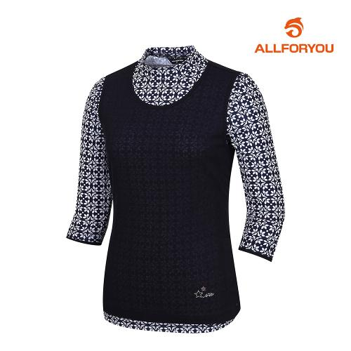 [올포유]여성 스포츠 기하학 티셔츠 AWTHJ6120-915_G