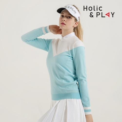 홀릭앤플레이 여성 V라인 니트 스웨터 HB1WSW001MT