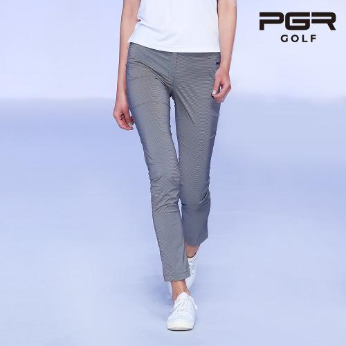 PGR GP-2079 여성 체크패턴 골프바지 여자팬츠 기능성