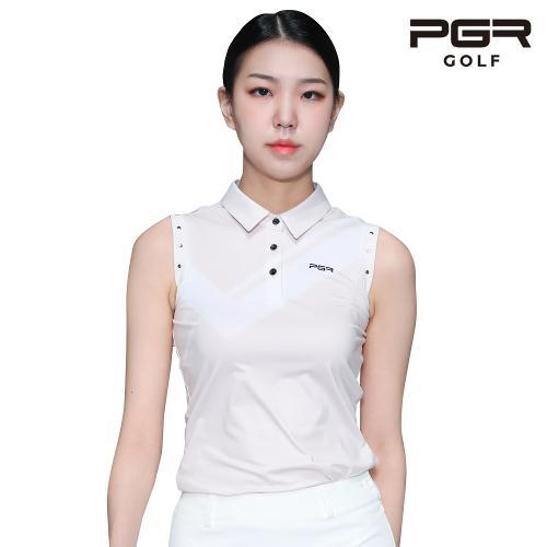 PGR GT-4297 여성골프 가슴포인트 민소매 티셔츠 골프복