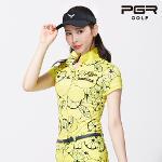 PGR GT-4284 여성골프 레몬패턴 반팔티셔츠 여자골프복