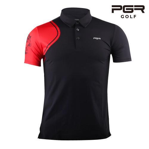 PGR GT-3295 남성골프 타이거프린팅 반팔티셔츠 골프복