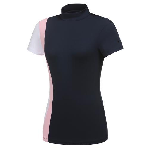 [와이드앵글] 여성 CF FIN FIT 배색 하이넥 빈팔 티셔츠 L WWM21251N4