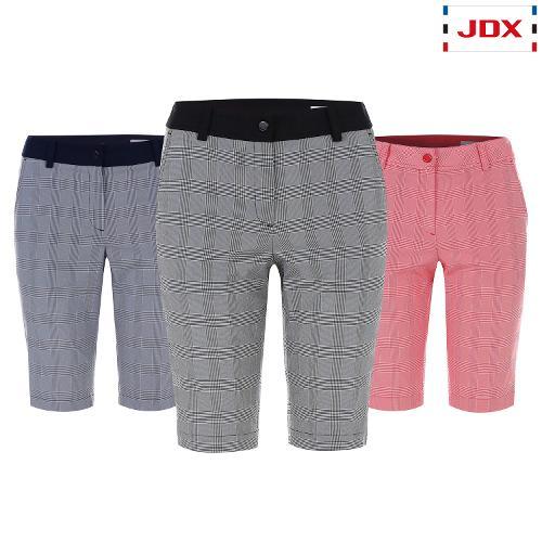 JDX 여성 글렌체크 5부 팬츠 3종 택1 X2QMPHW91