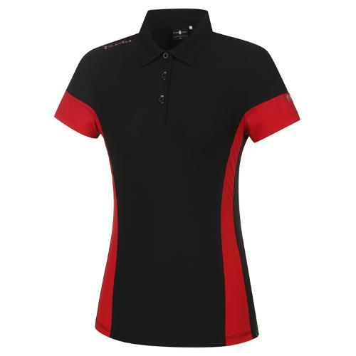 [와이드앵글] 여성 WL 엔젤 컬러블럭 반팔 티셔츠 L WWM21215Z1