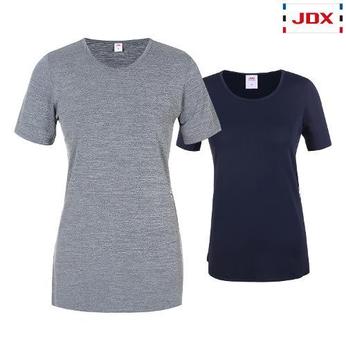 JDX 여성 롱기장 라운드 티셔츠 2종 택1 X3QMTSW51