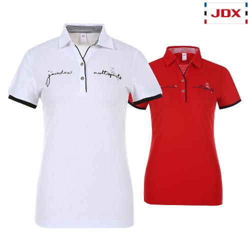JDX 여성 로고레터링 카라티셔츠 2종 택1 X2QMTSW63