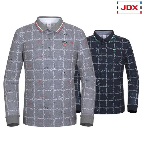 JDX 남성 전판올오버프린트 요꼬에리 티셔츠 2종 택1 X2QSTLM03