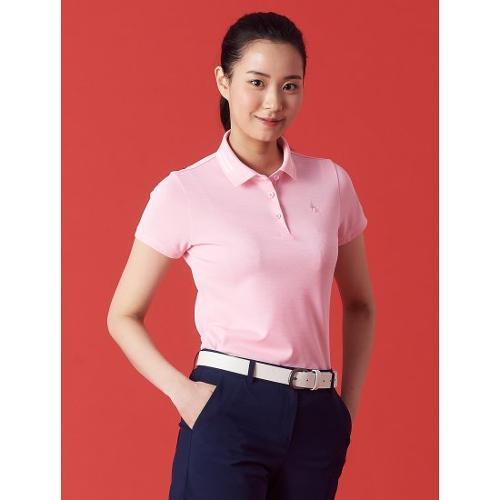 [빈폴골프] 여성 핑크 와펜 피케 칼라 티셔츠 (BJ1342OA3X)