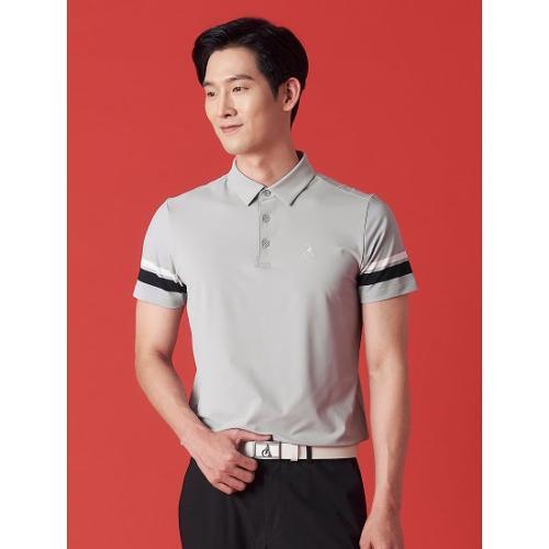 [빈폴골프] 남성 그레이 배색 포인트 칼라 티셔츠 (BJ1342OB13)