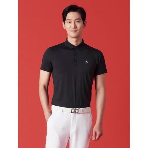 [빈폴골프] 남성 블랙 에센셜 솔리드 칼라 티셔츠 (BJ1342OB25)
