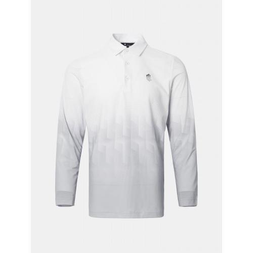 [빈폴골프] [NDL라인] 남성 그레이 기하학 그라데이션 칼라 티셔츠 (BJ1341M493)