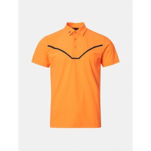 [빈폴골프] [NDL라인] 남성 오렌지 펀칭 포인트 칼라 티셔츠 (BJ1342M458)