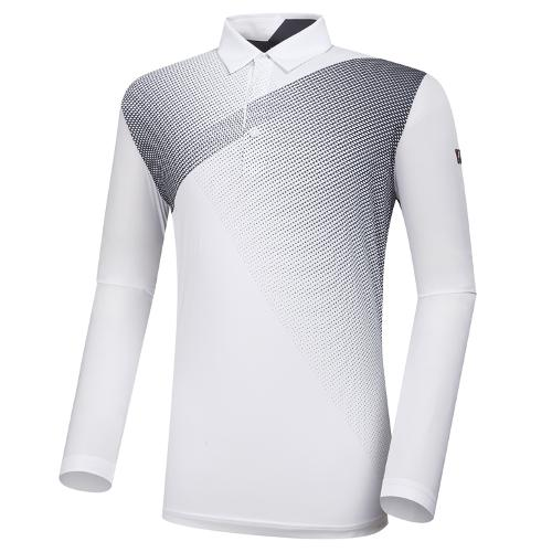 [와이드앵글] 남성 WL W.ICE 패턴 긴팔 티셔츠 M WMM21209W2