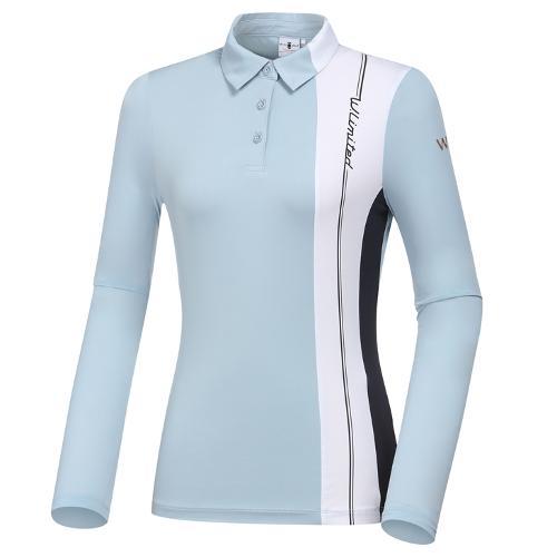 [와이드앵글] 여성 WL W.ICE 트리니티 버티컬 긴팔 티셔츠 L WWM21207B1