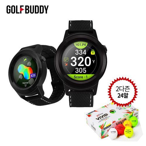 (2다즌 24알 골프공 증정)골프버디 aim W11 시계형 거리측정기