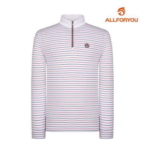 [올포유]남성 줄무늬 집업 티셔츠 AMTHI2102-100_G