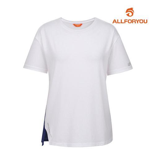 [올포유]여성 트임 반팔 티셔츠 AWWJI6326-100_G