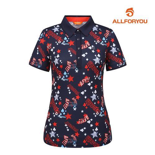[올포유]여성 별 카라 반팔 티셔츠 AWTYI6115-915_G