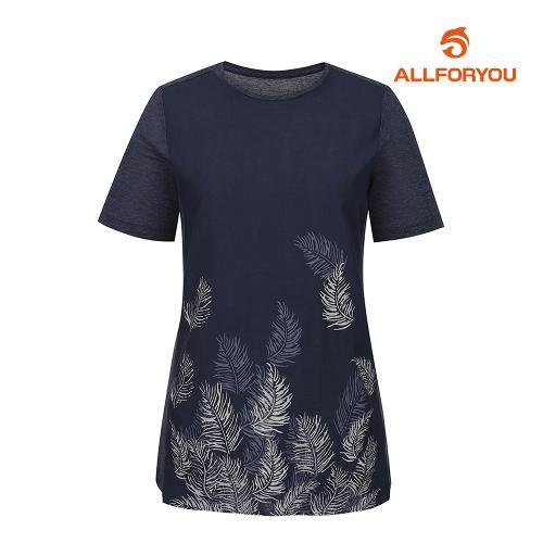 [올포유]여성 나뭇잎 반팔 티셔츠 AWTRI6155-915_G