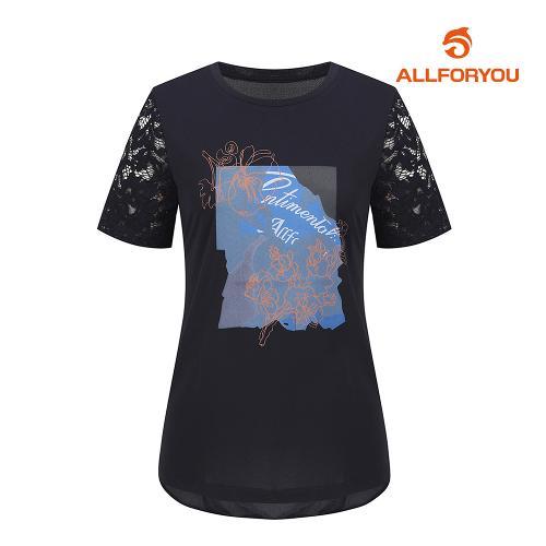 [올포유]여성 레이스 반팔 티셔츠 AWTRI6154-915_G